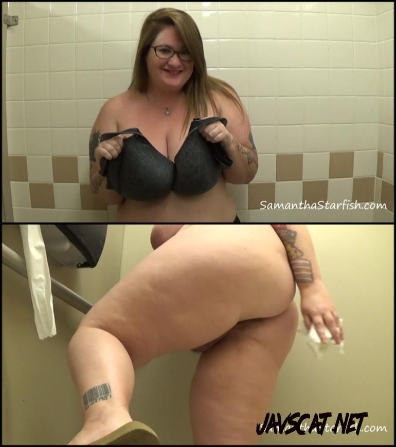 [Special #260] BBW girl shitting in public toilet (2018 | 905 MB | FullHD)