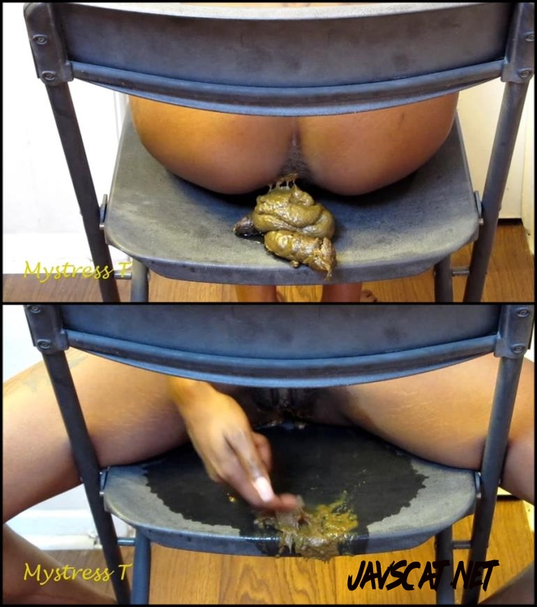 [Special #167] Ebony girl pooping on black chair (2018 | 436 MB | FullHD)